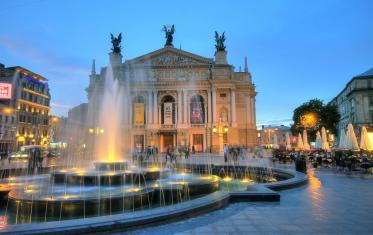 Lviv sightseeing. The Lviv Opera House